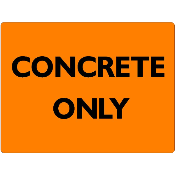CONCRETE ONLY