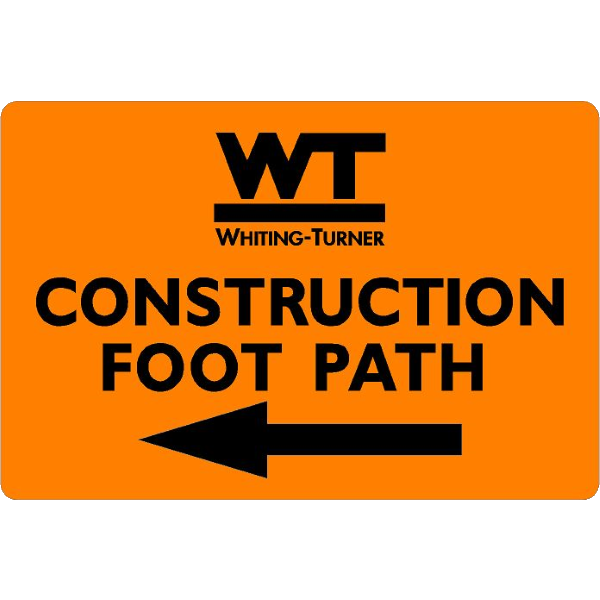 Construction Foot Path (with arrow)