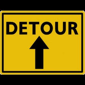 DETOUR (with arrow)