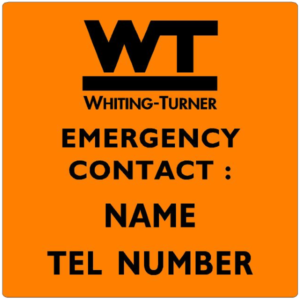 EMERGENCY CONTACT - Name and Phone