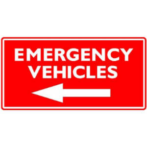Emergency Vehicles (with arrow)