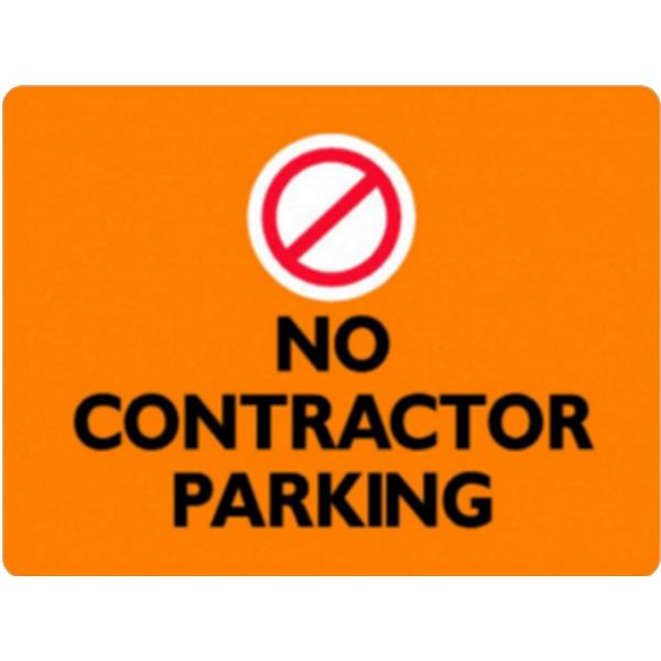 No Contractor Parking
