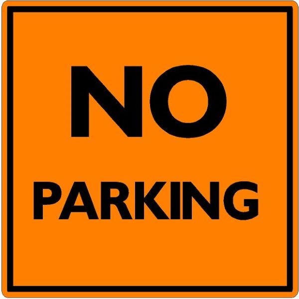 NO PARKING (Orange Background)