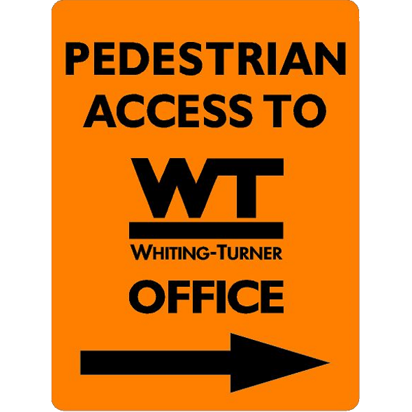 PEDESTRIAN ACCESS - To WT Office (with arrow)