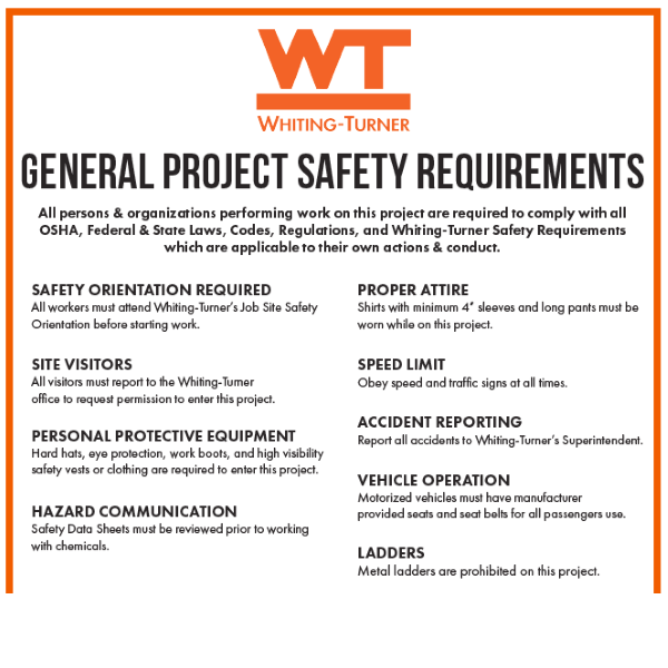 General Project Safety Requirements Detail 1